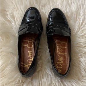 Sam Edelman black patent penny loafers